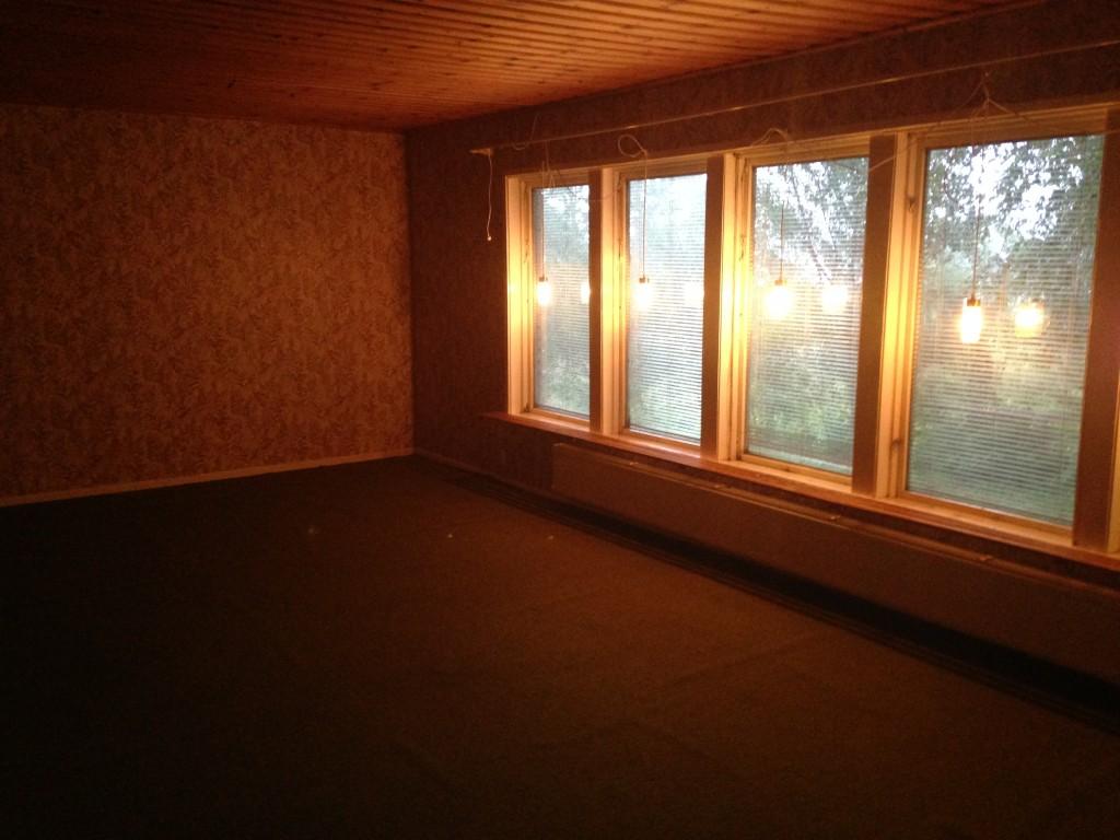 Rummet i utbyggnaden.